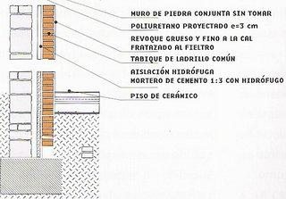 Muro doble 09 piedra sin junta exterior ladrillo com n for Mortero para juntas exterior